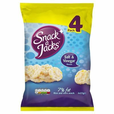 Snack a Jacks Salt & Vinegar Rice Cakes 4 x 22g