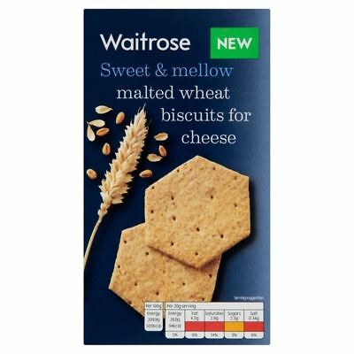 Malted Wheat Biscuits For Cheese Waitrose 150g