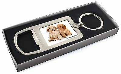 Cockerpoodle Puppy Dogs 'Soulmates' Chrome Metal Bottle Opener Keyri, SOUL-27MBO