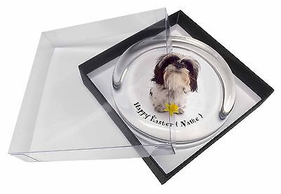 Personalised Shih Tzu Glass Paperweight in Gift Box Christmas Prese, AD-SZ3DA2PW