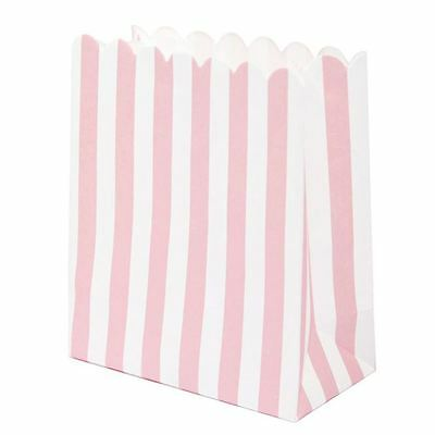 Very Mini Candy Sweet Bags Pink x 12 - Sweet Stall Extra Bags Party Candy Bar