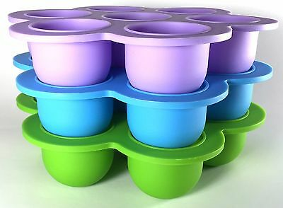 NEW Silicon Baby Food Freezer Tray by Num-e-Nums For Homemade Foods & Snacks