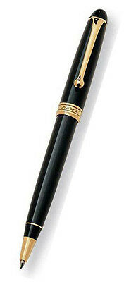 Aurora Ballpoint Pen - Black Resin with Gold Trim