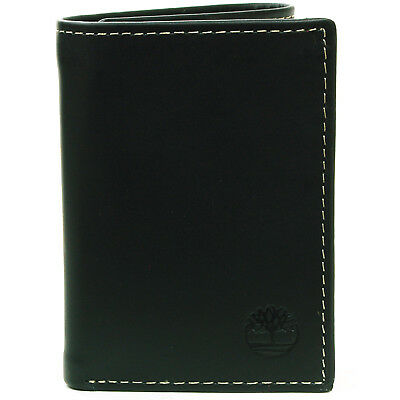 Timberland Men's Trifold Wallet Soft Genuine Leather Slim Billfold ID Card Case