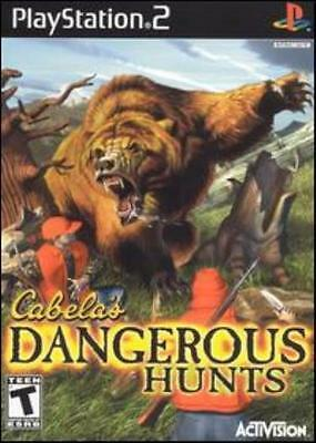 Cabela's Dangerous Hunts PS2 Playstation outdoors hunting beasts cats bear game