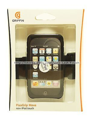 GRIFFIN Active-Use Armband FLEXGRIP MOVE For iPod Touch 4 BLACK w/EXTENSION New!