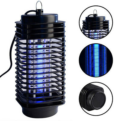 Electric UV Light Flying Insect Killer Grill Mosquito Pest Fly Bug Zapper Black