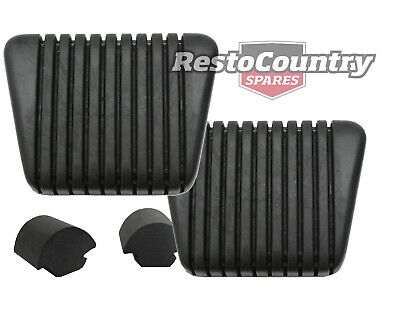 Holden HR Brake + Clutch Pedal Pad + Bump Stop kit x4 Manual Rubber