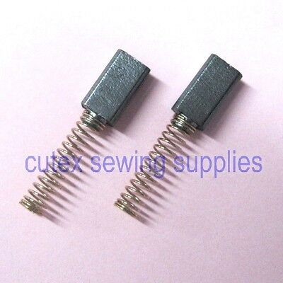 Pair Carbon Brush With Spring #708C1-15 For Eastman Chickadee (D2) Cutter