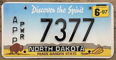 North Dakota 1996 - 1997 APPORTIONED TRUCK License Plate - Very Nice!