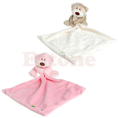 Baby Comforter Plush Stuffed Washable Blanket Teddy Bear Soft Smooth Toy Fine