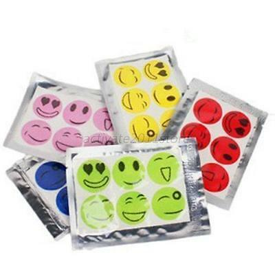 60pcs x Smiley Insect Mosquito Repellent Stickers Patches Citronella Oil
