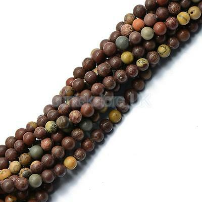 "Natural Grass Flower Gemstone Round Loose Beads 6mm 15"" Jewelery Findings"