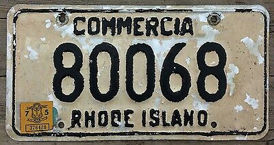 Rhode Island 1968 - 1975 COMMERCIAL TRUCK License Plate 80068!