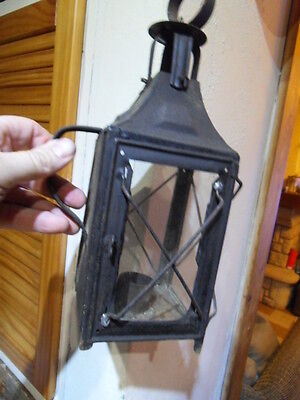 Vintage lamp ancienne lampe lanterne a bougie chemin de fer train gare mine !