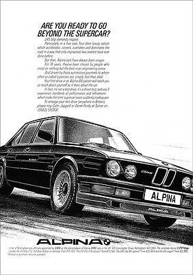 BMW E28 ALPINA B9 3.5 RETRO A3 POSTER PRINT FROM CLASSIC 80's ADVERT