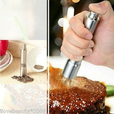 1PC Stainless Steel Manual Salt and Pepper Mill Grinder for Cooking Kitchen