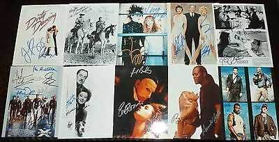 """10""""x8"""" PHOTOGRAPHS - LOT OF 41 - FILM CASTS with printed signatures"""