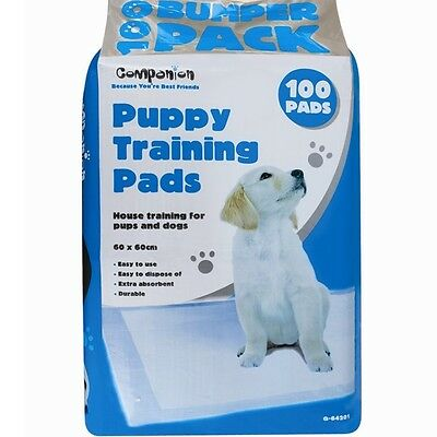 100 x LARGE No Mess Puppy Training Pads Potty Dog Cat Indoor House Odour Free