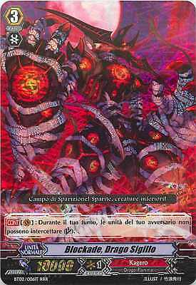 Blockade, Drago Sigillo ☻ Tripla Rara RRR ☻ BT02 006IT ☻ CFV Vanguard ANDYCARDS