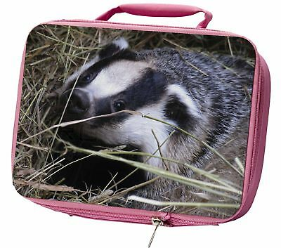 Badger in Straw Insulated Pink Lunch Box, ABA-1LBP