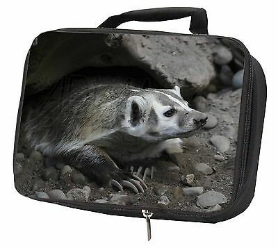 Badger on Watch Black Insulated Lunch Box, ABA-2LBB
