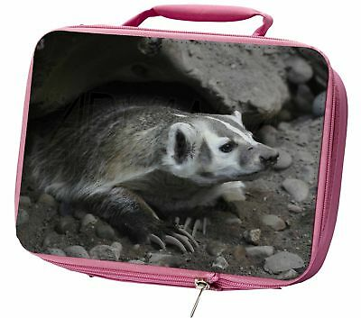 Badger on Watch Insulated Pink Lunch Box, ABA-2LBP