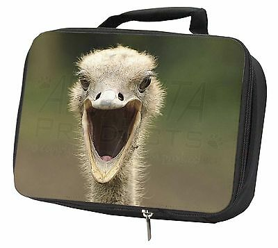 Ostritch Photo Print Black Insulated Lunch Box, AB-OS1LBB