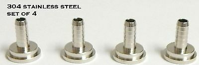 3/16 Tailpiece- 4 Pack  304  Stainless Steel - Draft Beer Kegerator Hose Fitting