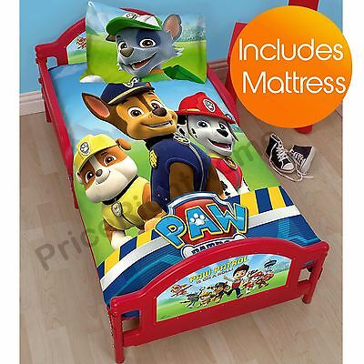 Paw Patrol Junior Toddler Bed + Mattress New
