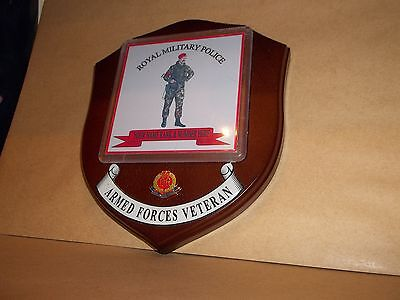 Royal Military Police Veteran Wall Plaque  personalised.