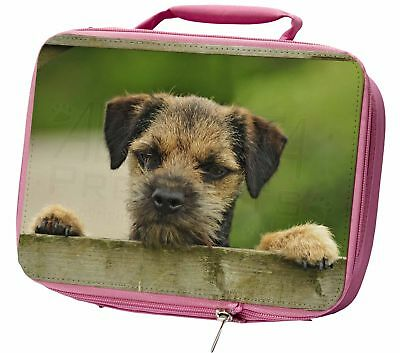 Border Terrier Puppy Dog Insulated Pink Lunch Box, AD-BT5LBP