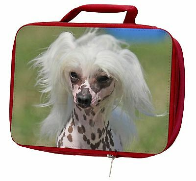 Chinese Crested Dog Insulated Red Lunch Box, AD-CHC4LBR