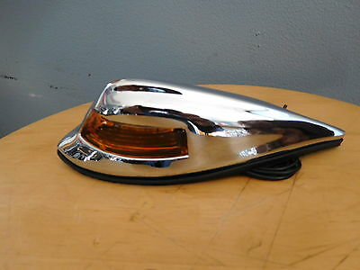 Motorcycle Front Fender Classic Lamp Light Old School Look Amber Lights