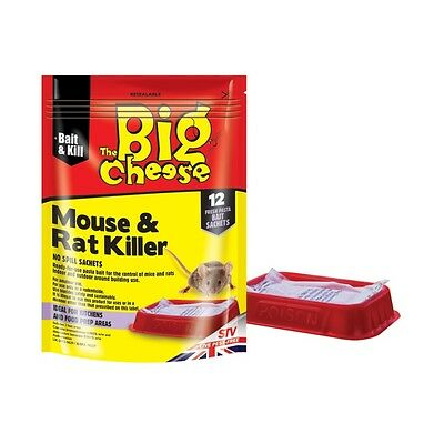 The Big Cheese Mouse & Rat Killer 12 Sachet