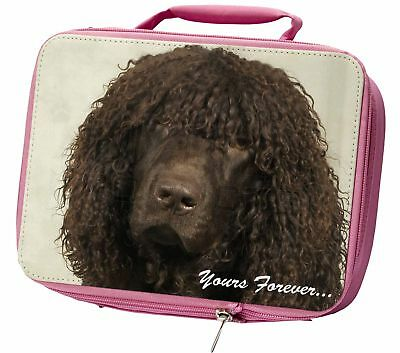 Irish Water Spaniel 'Yours Forever' Insulated Pink School Lunch Box , AD-IWSyLBP