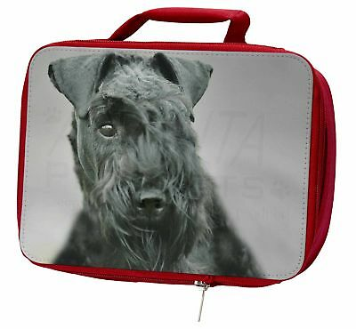 Kerry Blue Terrier Dog Insulated Red Lunch Box, AD-KB1LBR