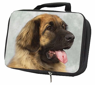 Blonde Leonberger Dog Black Insulated Lunch Box, AD-LE1LBB