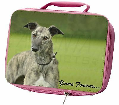 Greyhound Dog 'Yours Forever' Insulated Pink School Lunch Box Bag, AD-LU7yLBP