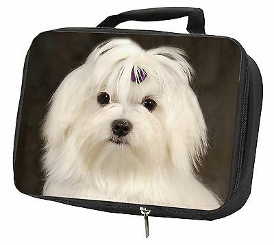 Maltese Dog Black Insulated Lunch Box, AD-M1LBB