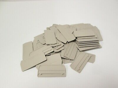 Lot of 64 New Weidmuller 1608770000 ZAP/TW 2 DB Snap-In End Plate Tan