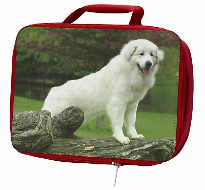 Pyrenean Mountain Dog Insulated Red School Lunch Box/Picnic Bag, AD-PM1LBR