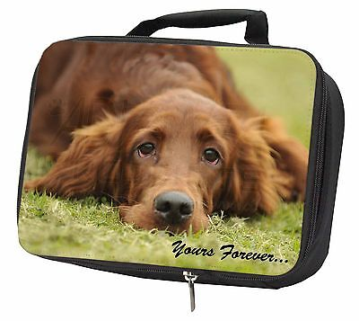 Red Setter Dog 'Yours Forever' Black Insulated Lunch Box, AD-RS2yLBB