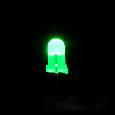 100PCS Super Bright 3mm Round Top Diffused Green Light Emitting Diode Lamps
