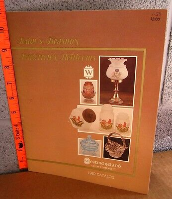 WESTMORELAND Glass Company catalog Pennsylvania 1982 Today's Treasures