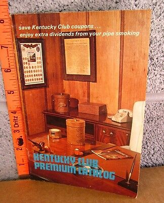 KENTUCKY CLUB Premium Catalog 1976 Pipe Tobacco collectible Calabash smoking