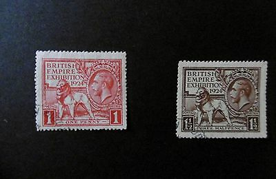 GB 1924 WEMBLEY Stamps Set 2v SG430-431 SUPERB Used REF: P17