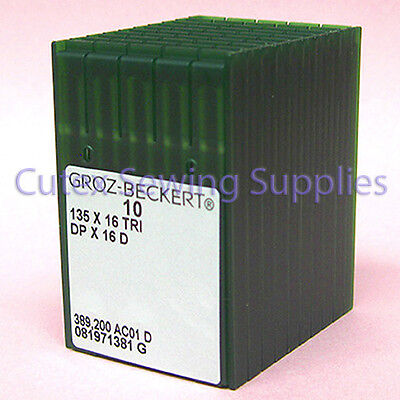 100 Groz-Beckert 135X16TRI DPX16D Walking Foot Machine Leather Sewing Needles