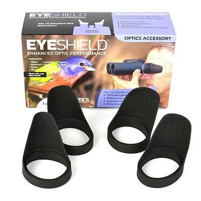 2 Pairs Field Optics Bino Standard Eyeshields Bird Watch Eye Cups B008 Twin Pack