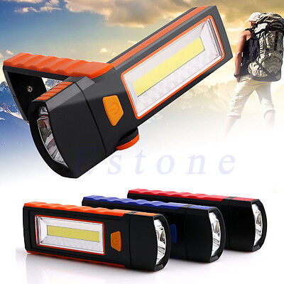 COB LED Work Light Inspection Lamp Hand Torch Magnetic Rechargeable Super Bright